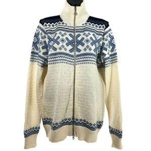 Dale of Norway Sweater Full Zip Nordic Wool Ivory